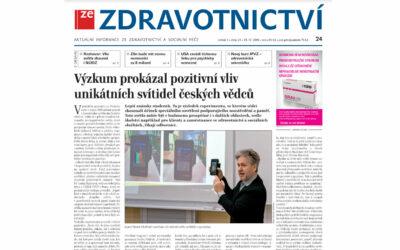 Ze Zdravotnictvi: Výzkum prokázal pozitivní vliv unikátních svítidel českých vědců
