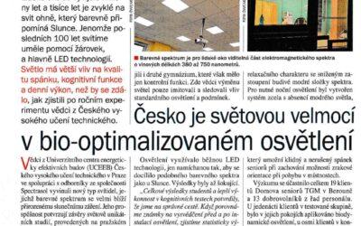 21.století: Česko je světovou velmocí v bio-optimalizovaném osvětlení