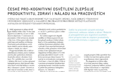 SPEKTRUM: České pro-kognitivní osvětlení zlepšuje produktivitu, zdraví i náladu na pracovištích