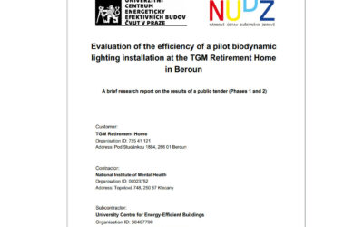 Evaluation of the efficiency of a pilot biodynamic lighting installation at the TGM Retirement Home in Beroun