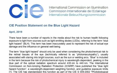Official statement of the CIE (International Commission of Illumination) on the risks of the blue light hazard effect of LED lighting (Harmful blue light).
