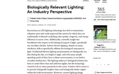 Biologically Relevant Lighting: An Industry Perspective